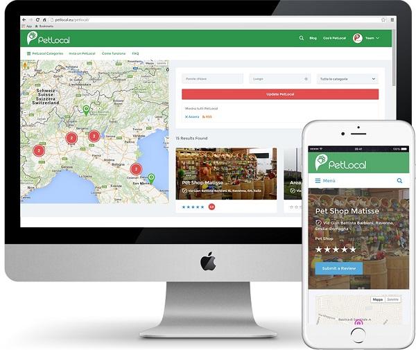 ricerca su mobile come utilizzare petlocal servizi pet petsitter e negozi nella tua zona
